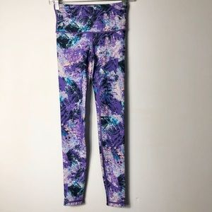 Lululemon ivivva printed purple reversibleleggings